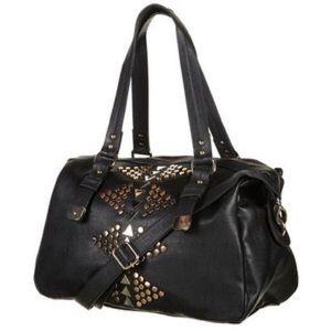 Topshop Studded Holdall Black Crossbody Bag