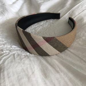 Large/wide Burberry Headband with Gold sparkles