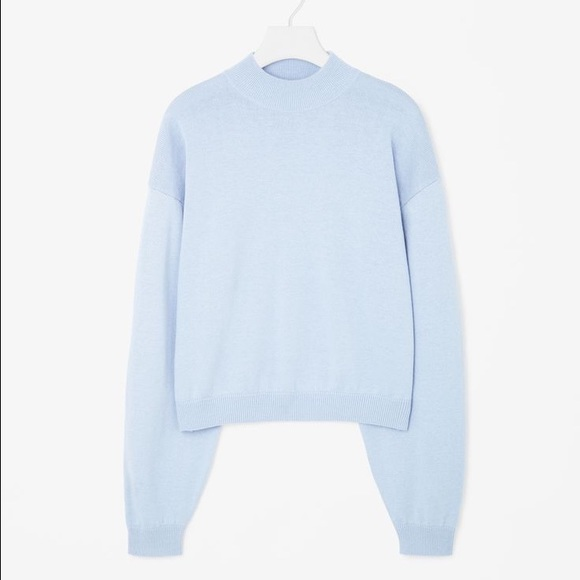 COS Sweaters - COS Baby Blue Oversized Mock Neck Sweater fc5cfc6a2