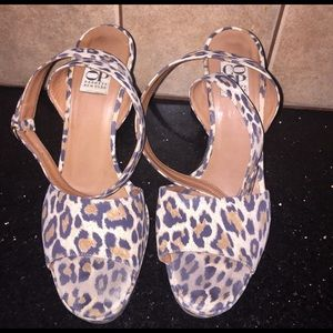 Barneys New York CO-OP Shoes - Sexy leopard ankle wrap heels