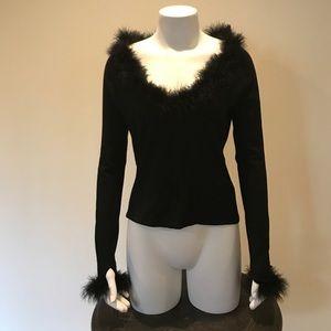 Dana Buchman Sweaters - Dana Buchman Feather Top
