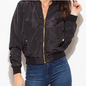 Black bomber jacket size small / medium