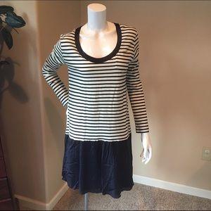 Sacai Dresses & Skirts - Sacai Luck L 3 Long sleeve combo nautical dress