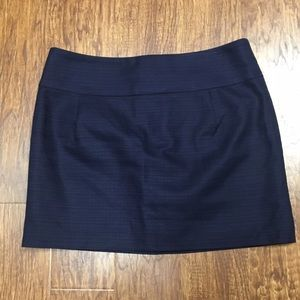 J. Crew - J. Crew Factory Gold Navy Blue Striped Mini Skirt from ...