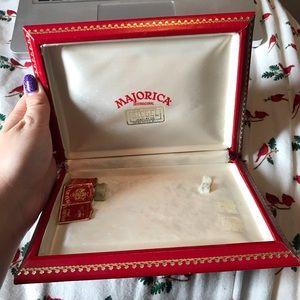 VINTAGE MAJORICA JEWELRY BOX