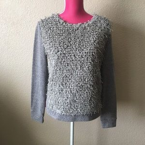 Trouve Sweaters - Trouve Textured Detail Gray Sweater