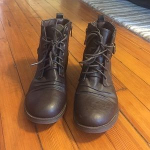 Forever 21 Shoes - Dark brown combat boots