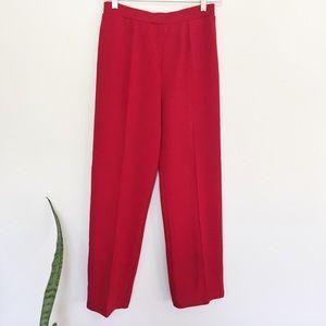 St. John Pants - NWOT St. John Knits Cropped Knitted Red Pants