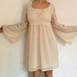 NWT Flying Tomato brand Boho lace/sheer dress