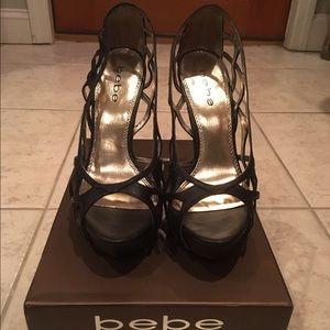 bebe Shoes - Black bebe heels.