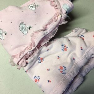 Petit Lem Other - Lot of 2 baby girl pink newborn footies