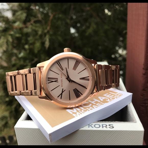 c420728114a6 Michael Kors rose gold MK Hartman watch MK3491