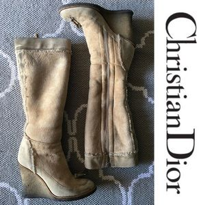 Authentic Christian Dior-Knee High Boots