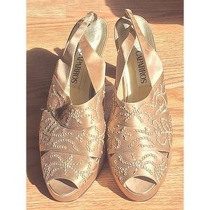 Caparros Shoes - Gold Formal Heels