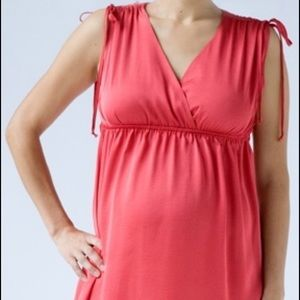 Hatch Coral Garden Party Maternity Dress