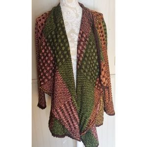 Orvis Jackets & Blazers - Colorful Open Cardigan