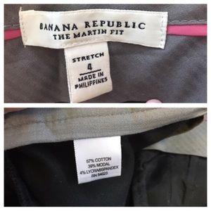 Banana Republic Martin Fit Trouser Black Size 4