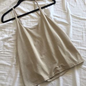 Zara Tops - Zara tan strappy top.