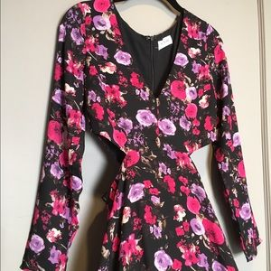 Love Sadie Floral Cutout Maxi Dress