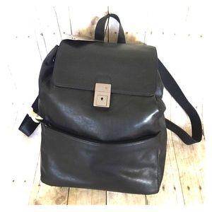 Calvin Klein Handbags - CALVIN KLEIN large Leather backpack NWT 16x14