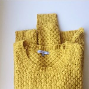 Analee + Hope Sweaters - Analee+Hope mustard yellow knit sweater