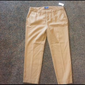 Old navy cropped flat front dress pant