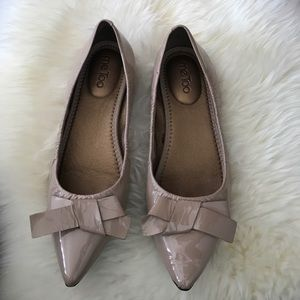 me too Shoes - Me Too Patent Leather flats-taupe/beige