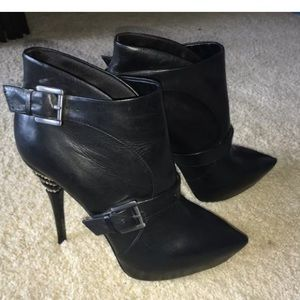 Guess by Marciano Shoes - Guess by Marciano Leather Platform Bootie Boots 8