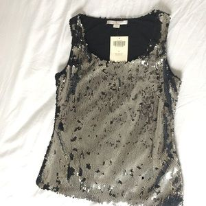 Boston Proper Sequins Sleeveless Party Top