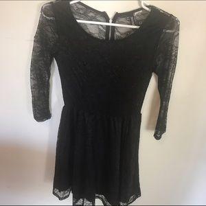 DIVIDED by H&M Black lace mini dress. SIZE XS!