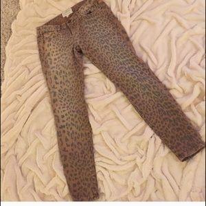 REDUCED!! CURRENT/ELLIOTT - leopard skinny jeans!