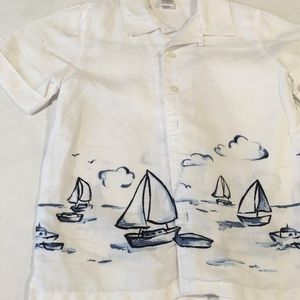 Janie and Jack Other - Janie and Jack linen sailboat shirt