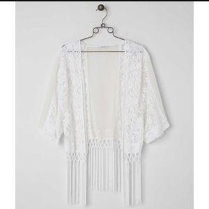 Miss Me Fringe Lace Kimono