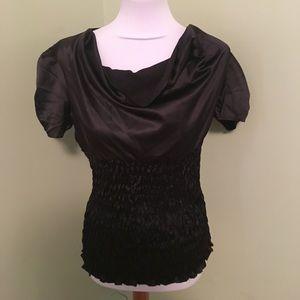 Silky black top NWOT
