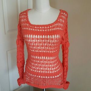 Full Tilt Tops - Long sleeve crochet top