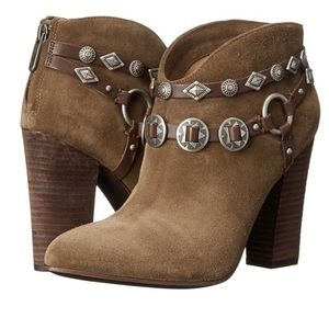 Belle by Sigerson Morrison Shoes - Belle by Sigerson Morrison Fusion Suede Booties
