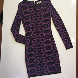 Presley Skye Dresses & Skirts - Purple & Black Long Sleeve Sweater dress