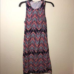 Wayf Tiki print bodycon sleeveless dress