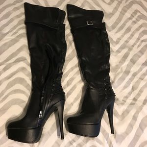 Shoes - Over the Knee platform boots