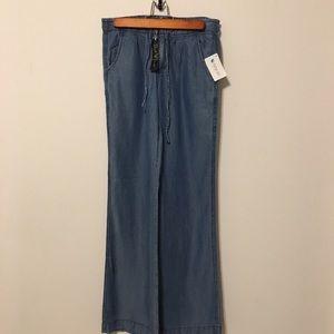 Denim - Wide leg denim pants