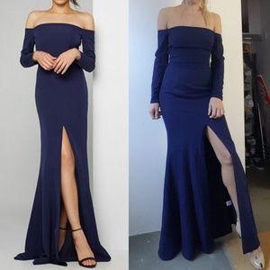 Dresses & Skirts - Nwt fame & partners navy Remy off shoulder dress 4