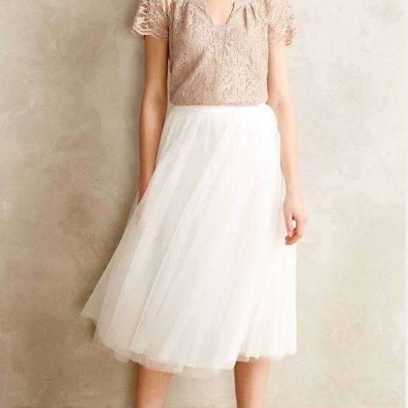 4d149b5090036 Anthropologie Dresses & Skirts - Anthropologie Bailey 44 Tulle Midi Skirt