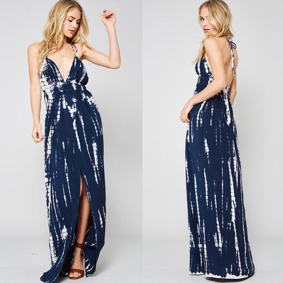 Bellanblue Dresses - 🆕POPPY tie dye maxi dress - NAVY
