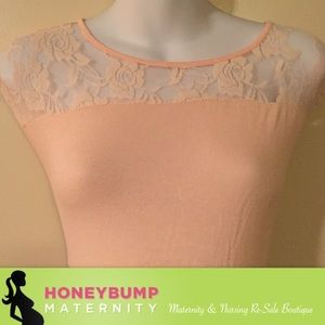 Tops - Maternity lace top size medium