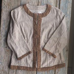 Ami Jackets & Blazers - Pinstriped Twill Jacket