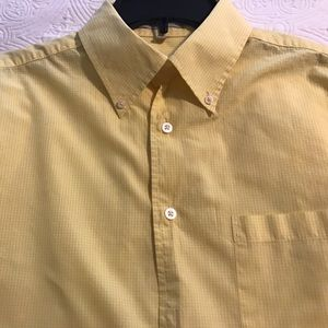 Barry Bricken Other - Yellow and white checked button down shirt