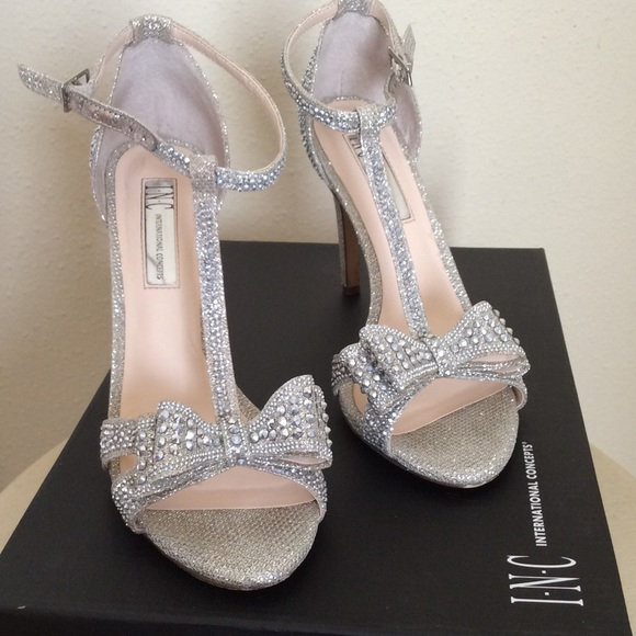 b8a867e41569 INC International Concepts Shoes - INC Reese Rhinestone Bow Evening Heels