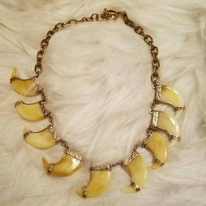 Lulu Frost Jewelry - Very Rare LULU FROST Cleo Horn Statement Necklace