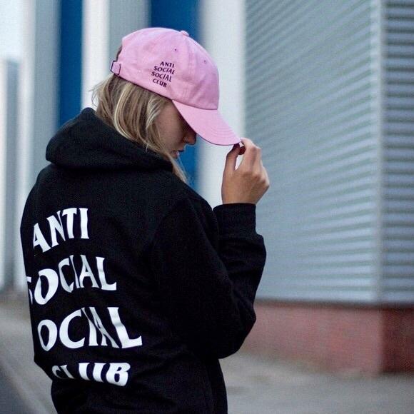 2cf0852d4683 Accessories - Anti Social Social Club Pink Baseball Cap