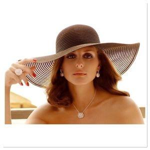 Boutique Accessories - Ladies Wide Brim Sun Hat